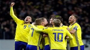 لحظه صعود سوئد به جام جهانی و حذف ایتالیا