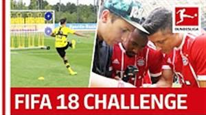 بهترینها در چالش ضربه آزاد بوندسلیگا به سبک FIFA18