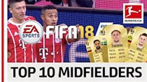 10 هافبک برتر بوندسلیگا در FIFA18
