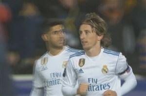 گل اول رئال مادرید به آپوئل (لوکا مودریچ)