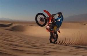 تصاویر زیبای موتور سواری در صحرا