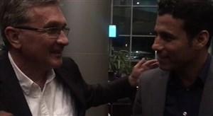 خوش و بش برانکو و تارتار در فرودگاه بعد از بازی