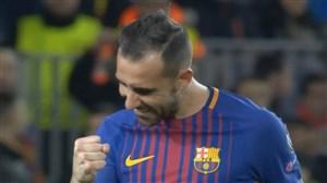 گل اول بارسلونا به اسپورتینگ (آلکاسر)