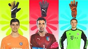 دستکش های دروازبان های بزرگ فوتبال