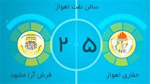 خلاصه فوتسال حفاری اهواز 5 - فرش آرا مشهد 2
