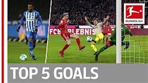 5 گل برتر هفته 16 بوندسلیگا (2018-2017)