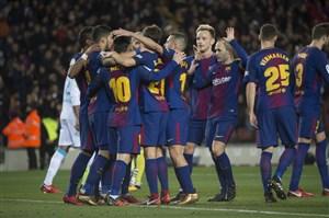 بارسلونا 4-0 لاکرونیا: شب درخشش سوارز و پائولینیو