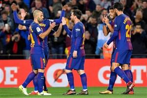 بارسلونا 5-0 سلتاویگو: شب زوج مسی-آلبا