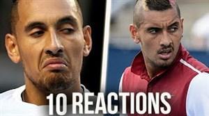 واکنشهای دیدنی به از دست دادن امتیاز در تنیس