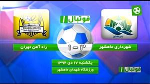 خلاصه بازی شهرداری ماهشهر 3 - راهآهن 1