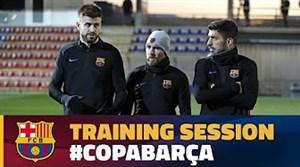 آخرین تمرین بارسلونا قبل رویایی با اسپانیول در جام حذفی