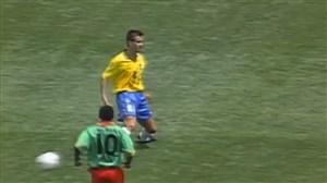پاس رونالدینیویی کاپیتان دونگا در بازی برزیل-کامرون