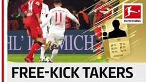 10 بازیکن برتر بوندسلیگا برای ضربه آزاد در فیفا 18
