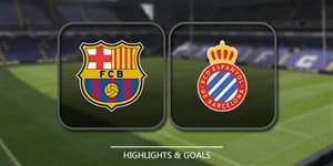 خلاصه بازی بارسلونا 2 - اسپانیول 0