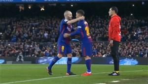 اولین حضور کوتینیو با پیراهن بارسلونا