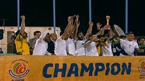 اهدا کاپ قهرمانی فوتبال ساحلی پرشین کاپ بوشهر به ایران