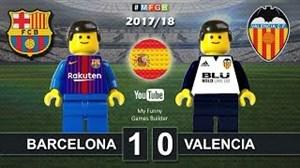 شبیه سازی بازی بارسلونا-والنسیا با لگو