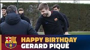 تمرینات ریکاوری بازیکنان بارسلونا در روز تولد جرار پیکه
