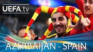 خلاصه بازی آذربایجان 0 - اسپانیا 1