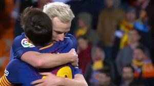 گل دوم بارسلونا به والنسیا توسط راکیتیچ