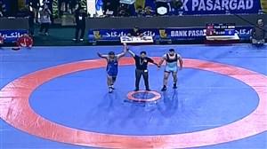 قهرمانی محمدی در وزن 97 کیلوگرم(جام پهلوان تختی)
