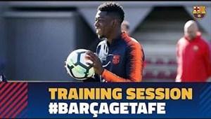 تمرینات بارسلونا قبل از دیدار با ختافه (21-11-96)