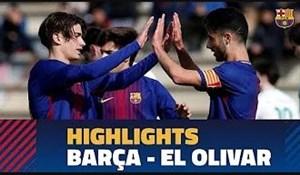 خلاصه بازی نوجوانان بارسلونا 5 - نوجوانان ال الیوار 0