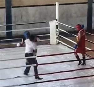 درگیری عجیب با داور در مسابقات بوکس در یاسوج