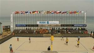 خلاصه والیبال ساحلی اتریش 0 - آلمان 2 (رده بندی تور جهانی والیبال ساحلی -کیش)