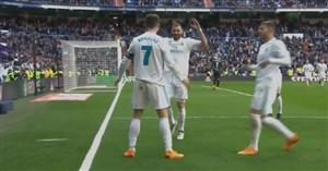 گل اول رئال مادرید به آلاوز ( کریستیانو رونالدو)