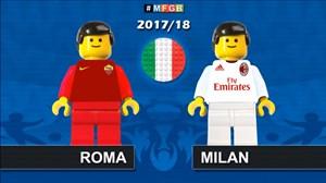 شبیهسازی بازی رم - میلان با لگو