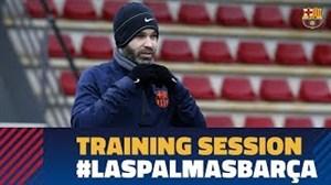 آخرین تمرین بارسلونا قبل از رویارویی به لاس پالماس