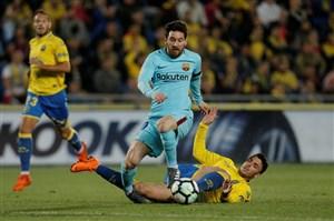 لاس پالماس 1-1 بارسلونا: زنگ خطر برای آبی و اناری ها