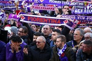 مراسم تشییع داویده آستوری کاپیتان فقید فیورنتینا