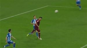 گل اول بارسلونا به مالاگا توسط سوارز