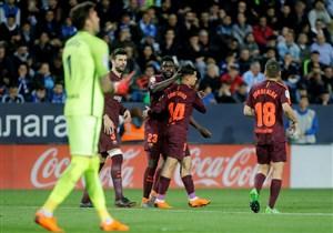 مالاگا 0-2 بارسلونا؛ جای مسی خالی نبود