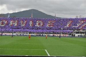 توقف بازی فیورنتینا - بنونتو در دقیقه 13 به احترام داویده آستوری