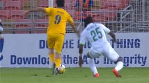 خلاصه بازی الاهلی عربستان 1 - الغرافه قطر 1