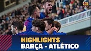 خلاصه بازی جوانان بارسلونا 2 - جوانان اتلتیکو مادرید 0