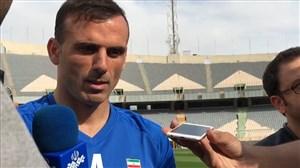 صحبتهای حسینی  و منتظری حین تمرین تیم ملی
