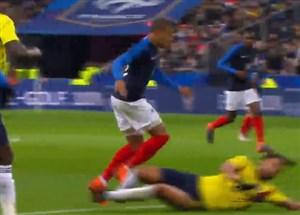 گل دوم فرانسه به کلمبیا از روی کار تیمی زیبا (لمار)