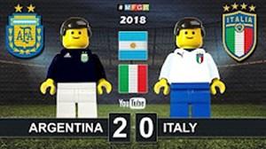 شبیه سازی بازی آرژانتین - ایتالیا با لگو