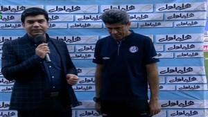 مصاحبه مربیان دو تیم مشکی پوشان و  استقلال خوزستان