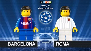 شبیه سازی لگو بازی بارسلونا - آ اس رم