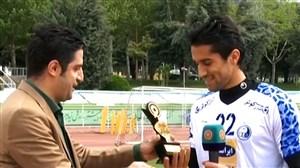 گفتوگو با سیدحسین حسینی، بهترین دروازهبان سال 96