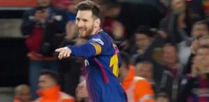 گل دوم بارسلونا به لگانس (دبل مسی)