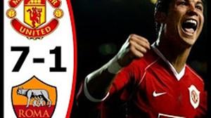 سالروز بازی خاطره انگیز منچستریونایتد 7 - آاس رم 1