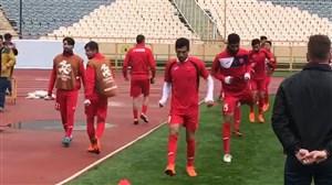 آخرین تمرین پرسپولیس قبل از بازی السد در ورزشگاه آزادی