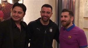 سورپرایز شدن ژاوی و بازیکنان السد از برخورد با مسی ایرانی