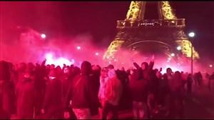 جشن هواداران پاریسنژرمن پس از قهرمانی در فرانسه